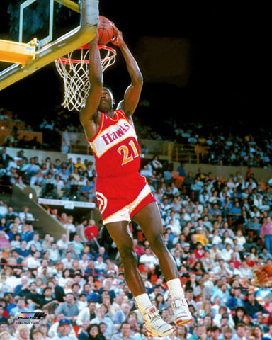 "Dominique Wilkins ""Classic Reverse"" (c.1988) Atlanta Hawks Premium Poster Print - Photofile"