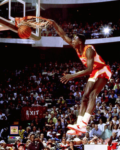 "Dominique Wilkins 1988 NBA Slam-Dunk Championship ""Perfect 50"" Atlanta Hawks Premium Poster"