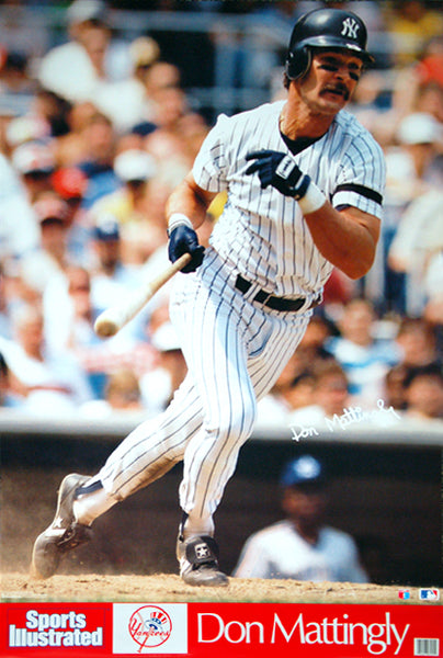 "Don Mattingly ""Pinstripe Classic"" New York Yankees Poster - Marketcom Sports Illustrated 1989"