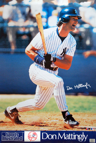 "Don Mattingly ""Signature Series"" Vintage Yankees SI Poster - Marketcom 1991"