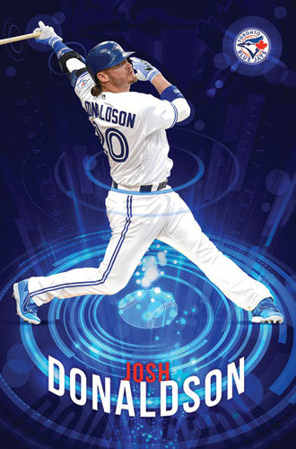 "Josh Donaldson ""Superstar"" Toronto Blue Jays MLB Baseball Action Poster - Trends 2016"