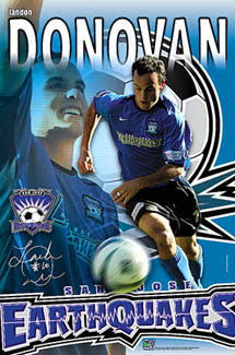 "Landon Donovan ""Quake"" San Jose Earthquakes MLS Soccer Poster - S.E. 2004"