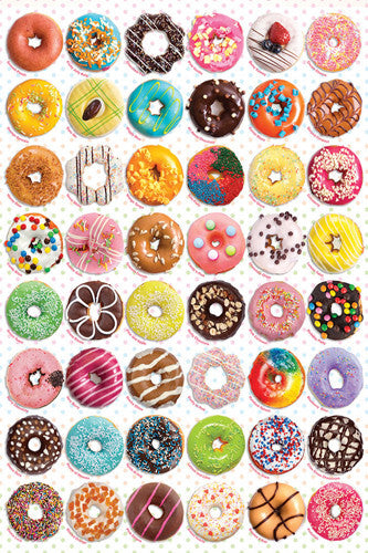 The Donuts Poster (48 Creations - Delicious Desserts) - Eurographics