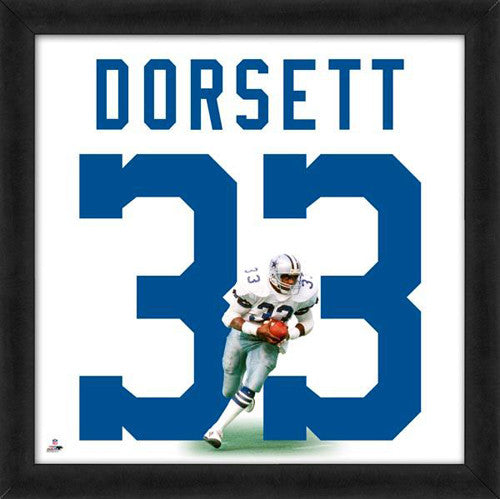 "Tony Dorsett ""Number 33"" Dallas Cowboys FRAMED 20x20 UNIFRAME PRINT - Photofile"