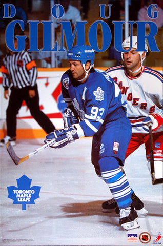 "Doug Gilmour ""Prime"" Toronto Maple Leafs NHL Hockey Action Poster - Starline 1993"