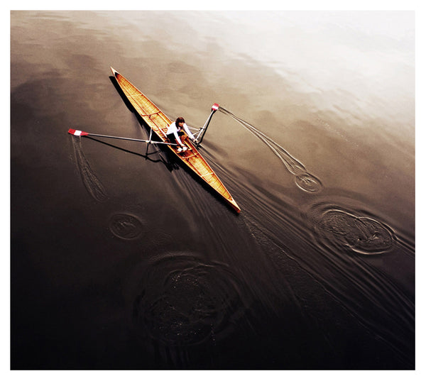 "Rowing ""Dragonfly"" Solo Woman Workout Sports Art Poster Print - Eurographics Inc."
