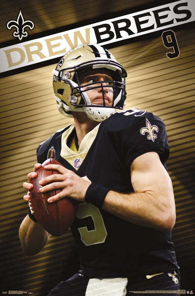 "Drew Brees ""Golden Great"" New Orleans Saints QB NFL Action Wall Poster - Trends International"
