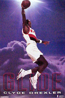 "Clyde Drexler ""Glide"" Portland Trail Blazers Poster - Costacos 1992"