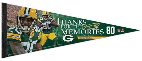 "Donald Driver ""Memories"" Green Bay Packers Premium Felt Collector's Pennant - Wincraft 2013"
