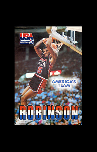 "David Robinson ""America's Team"" 1992 USA Dream Team Basketball Poster - Starline Inc."