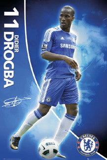 "Didier Drogba ""Signature"" Chelsea FC Poster - GB Eye 2011"