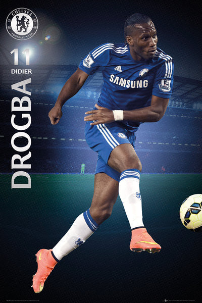 "Didier Drogba ""Superstar"" Chelsea FC Official EPL Action Poster - GB Eye (UK)"