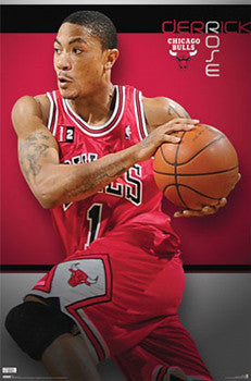 "Derrick Rose ""Drive"" Chicago Bulls Poster - Costacos 2009"