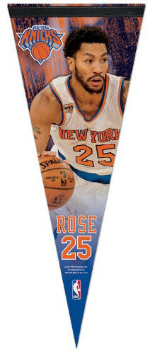 Derrick Rose New York Knicks Superstar Series Premium Felt Collector's Pennant - Wincraft 2017