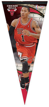 "Derrick Rose ""Big-Time"" Chicago Bulls 2010 EXTRA-LARGE Premium Felt Pennant - Wincraft"