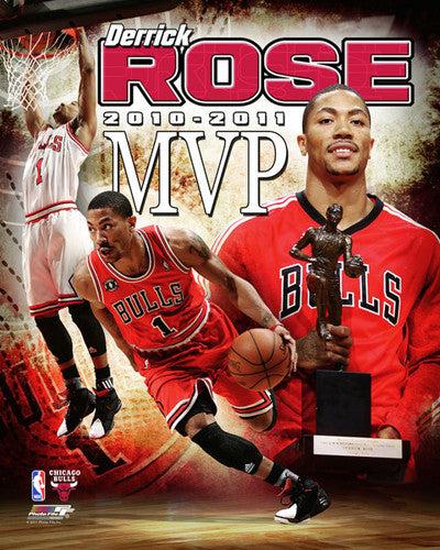 Derrick Rose 2010-11 MVP Commemorative - Photofile 16x20