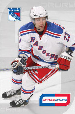 "Chris Drury ""CD"" New York Rangers Poster - Costacos 2008"