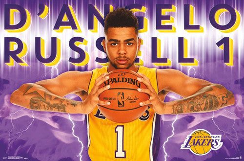 "D'Angelo Russell ""Superstar"" L.A. Lakers NBA Action Wall Poster - Trends International 2016"