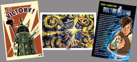 Doctor Who (BBC TV Series) 24x36 Three-Poster Combo - Culturenik