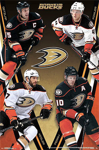 "Anaheim Ducks ""Four Stars"" Poster (Getzlaf, Fowler, Perry, Kesler) - Costacos 2014-15"