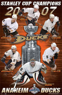 Anaheim Ducks 2007 Stanley Cup Champions Commemorative Poster - Costacos Sports