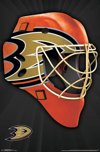 "Anaheim Ducks ""Mask"" NHL Hockey Official Team Logo Theme Wall POSTER - Trends 2016"