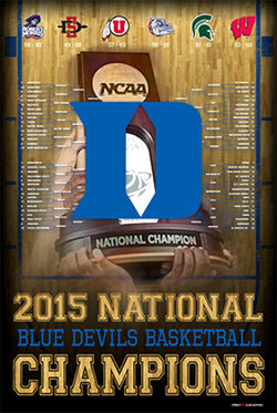 Duke Blue Devils 2015 NCAA Basketball Champions Commemorative Poster - ProGraphs Inc.