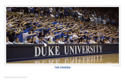 "Duke Basketball ""The Crazies"" Cameron Indoor Stadium Game Night Poster Print - SPI"