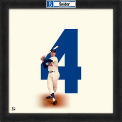 "Duke Snider ""Number 4"" Brooklyn Dodgers MLB FRAMED 20x20 UNIFRAME PRINT - Photofile"