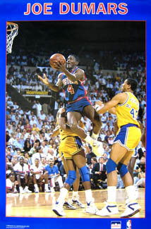 "Joe Dumars ""Drive"" (1989) Detroit Pistons NBA Action Poster - Starline Inc."