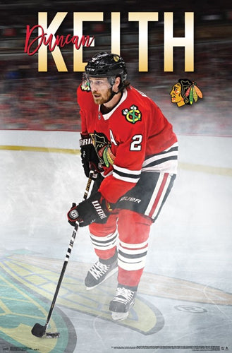 "Duncan Keith ""Super Defender"" Chicago Blackhawks NHL Action Poster - Trends 2017"