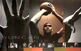 "Tim Duncan ""Rookie of the Year"" San Antonio Spurs Poster - Nike Inc. 1999"