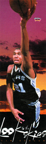 "Tim Duncan ""Look to the Skies"" DOOR-SIZED San Antonio Spurs Poster - Costacos 1998"