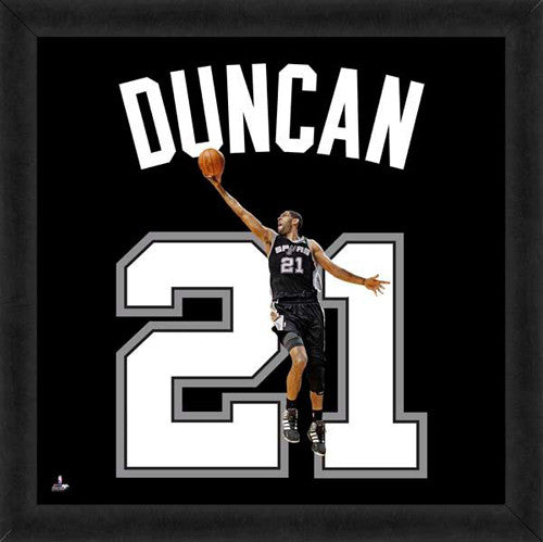 "Tim Duncan ""Number 21"" San Antonio Spurs FRAMED 20x20 UNIFRAME PRINT - Photofile"