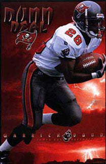 "Warrick Dunn ""Dunn Deal"" Tampa Bay Buccaneers NFL Action Poster - Costacos 1997"
