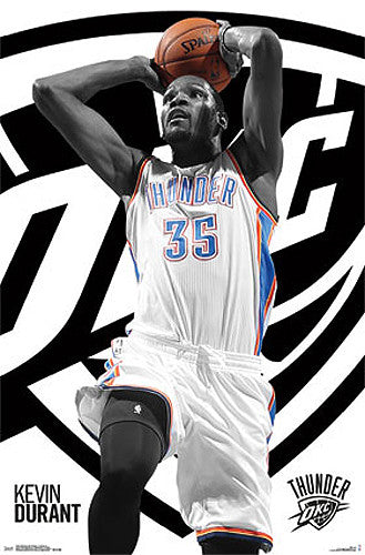 "Kevin Durant ""Power Drive"" Oklahoma City Thunder Official NBA Basketball Poster - Costacos 2015"