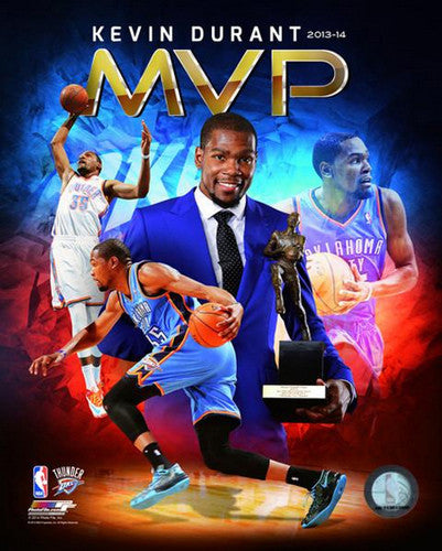 Kevin Durant 2013-14 NBA MVP Commemorative Premium Poster Print - Photofile 16x20