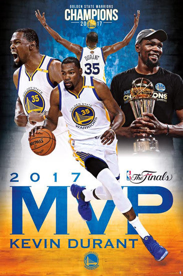 Kevin Durant 2017 NBA Finals MVP Golden State Warriors Commemorative Poster - Trends
