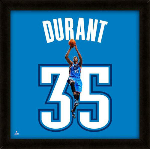 "Kevin Durant ""Number 35"" Oklahoma City Thunder FRAMED 20x20 UNIFRAME PRINT - Photofile"