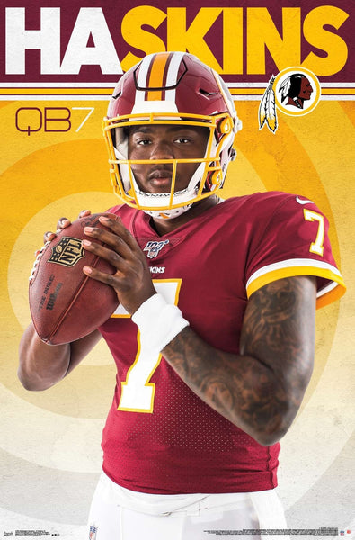 "Dwayne Haskins ""Superstar"" Washington Redskins NFL Action Wall Poster - Trends International 2019"