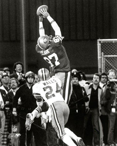 "Dwight Clark ""The Catch"" (49ers vs. Cowboys 01-10-1982) Premium Poster Print - Photofile Inc."