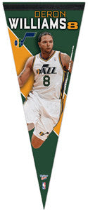 "Deron Williams ""Jazz Action"" Premium Felt Pennant (LE /1000) - Wincraft"