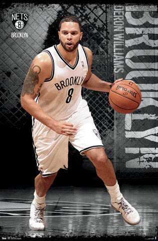 "Deron Williams ""Court Demon"" Brooklyn Nets Poster - Costacos 2012"