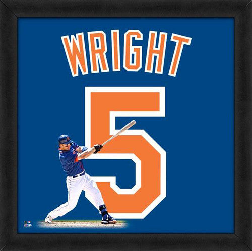 "David Wright ""Number 5"" New York Mets FRAMED 20x20 UNIFRAME PRINT - Photofile"