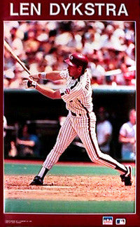 "Lenny Dykstra ""Nails"" Philadelphia Phillies Poster - Starline 1990"