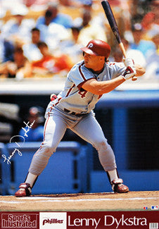 Lenny Dykstra Philadelphia Phillies Sports Illustrated Signature Series Poster - Marketcom 1990