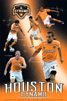 "Houston Dynamo ""Superstars 2007"" MLS Soccer Action Poster - Sports Endeavors"