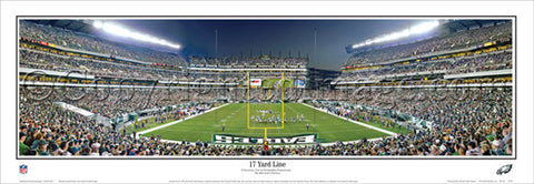 "Philadelphia Eagles Game Night ""17 Yard Line"" (2012) Panoramic Poster Print - Everlasting"
