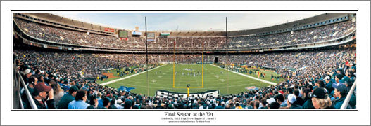 "Philadelphia Eagles ""Final Season at the Vet"" Panoramic Poster Print - Everlasting Images"