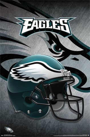 e53a074d Philadelphia Eagles Official NFL Football Team Theme Helmet Logo Poster -  Trends International